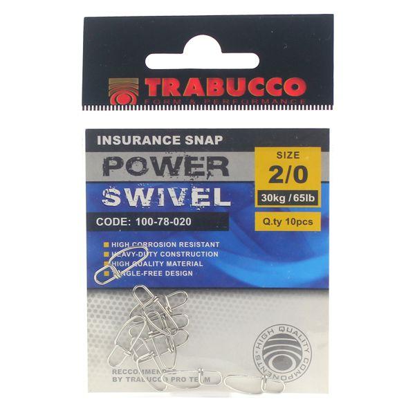 Snap Trabucco Reto p/ Artificial #2/0 10pçs 65lbs 30kg