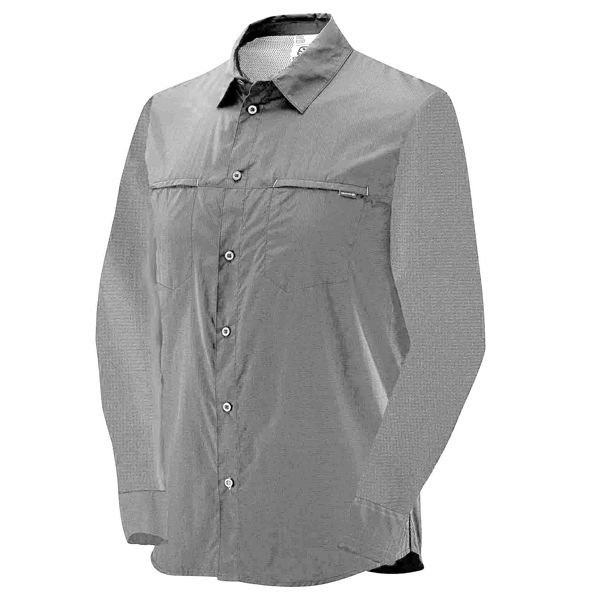 Camisa Salomon Stretch ML Masc Cinza