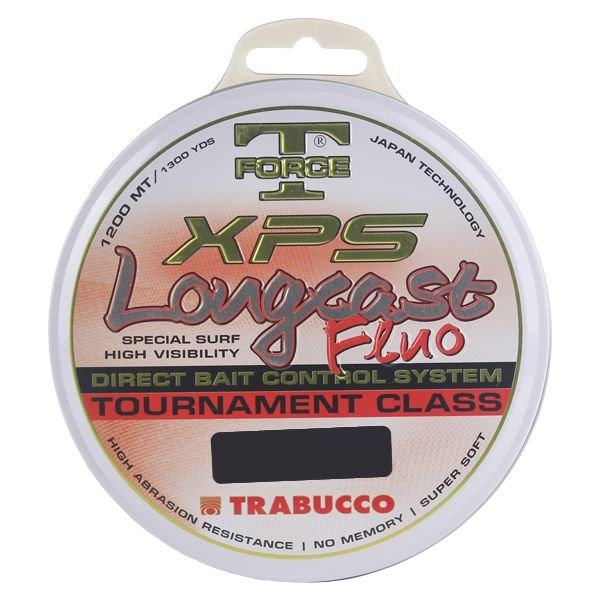 Linha Trabucco XPS Longcast Fluo 1200m 0.20mm - Laranja