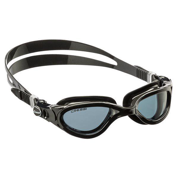 Óculos de Natação Cressi Flash Silicone - Preto/Fumê