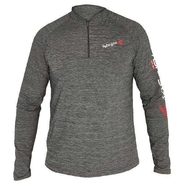 Camiseta Fishing co. Zíper ML UV UPF50 - Mescla