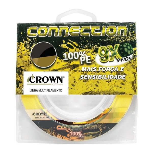 Linha Crown Connection 9X 150m 0.31mm - Amarela