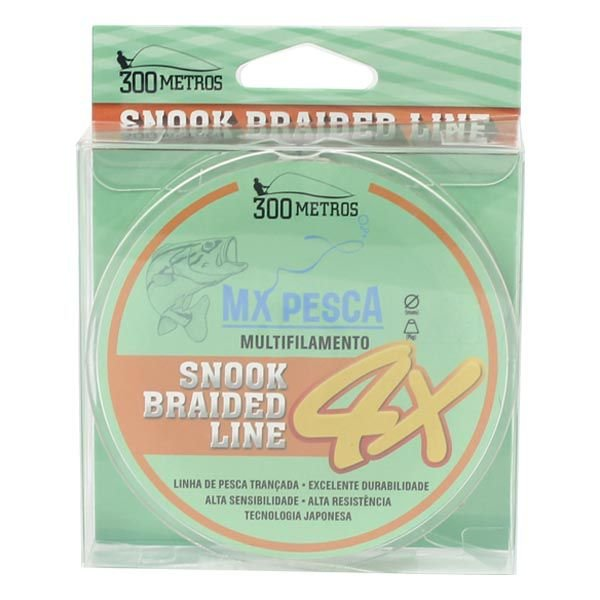 Linha MX Pesca Snook Braided Line 300m 0.06mm - Branco