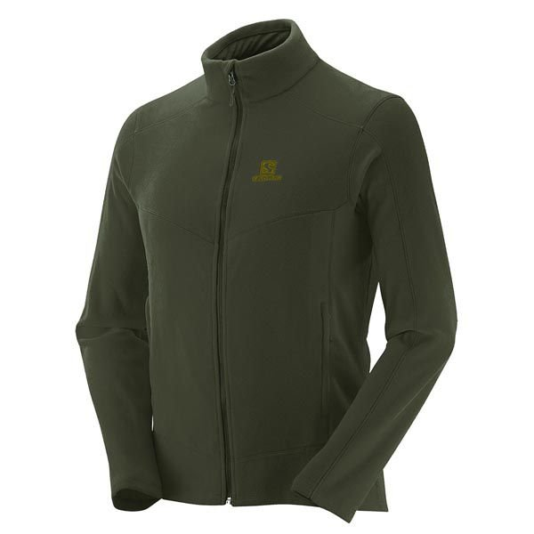 Jaqueta Fleece Salomon Polar II Masc Verde Oliva
