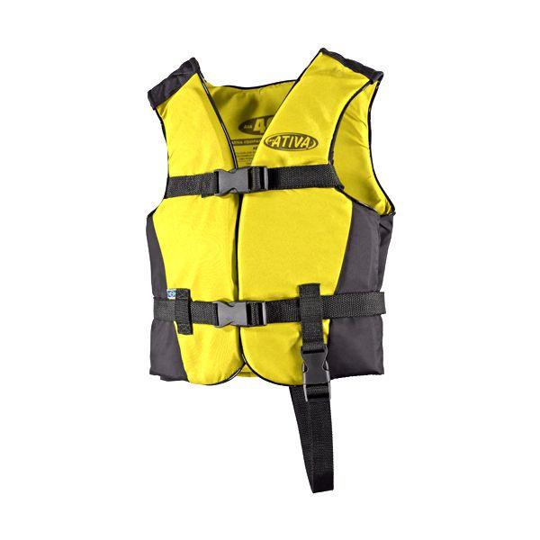 Colete Náutico Infantil Ativa Canoa 40kg - Amarelo