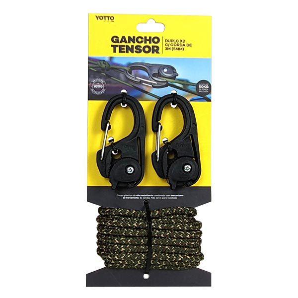 Gancho Tensor com Corda Yotto X2 Duplo 2m 5mm