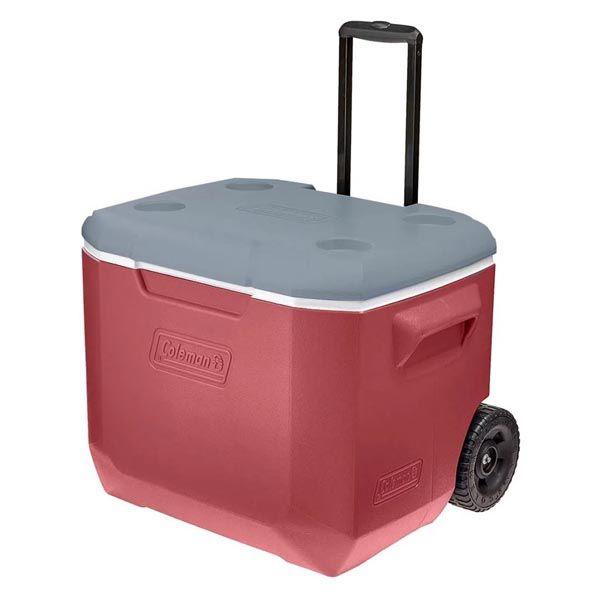 Caixa Térmica Coleman com Rodas 50QT 47.3L - Vermelho