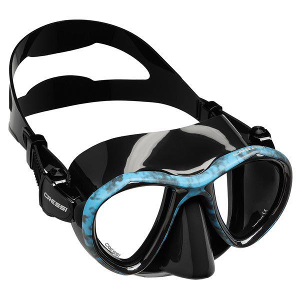 Máscara de Mergulho Cressi Silicone Metis Hunter - Azul Camuflado