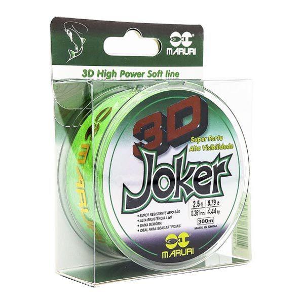 Linha Maruri Joker 3D 300m 0.23mm - Verde