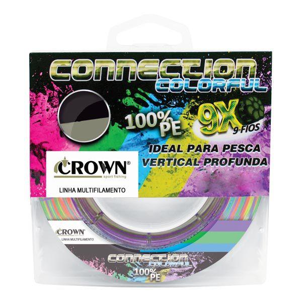 Linha Crown Connection 9X 300m Colorful - 0.28mm 50lb