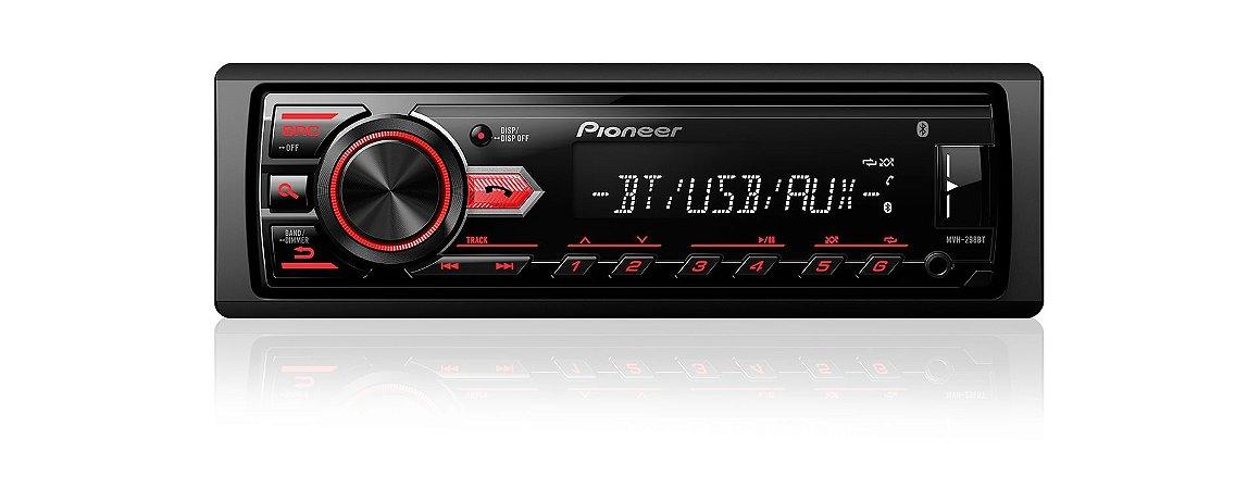 Auto Rádio Pioneer Mvh-298bt Usb Android Saída Sub Bluetooth