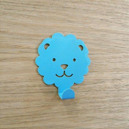 Suporte De Parede Gancho Leãozinho Azul