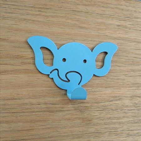Suporte De Parede Gancho Elefantinho Azul