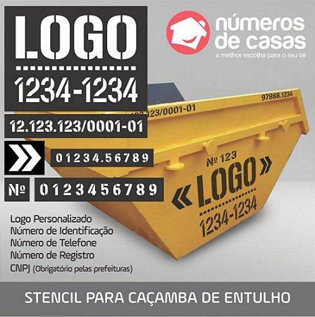 Stencil para Caçamba de Entulho (transentulho) em Chapa Galvanizada
