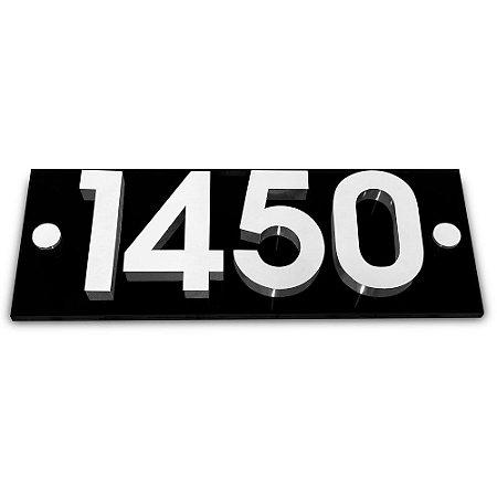 Kit Placa de Acrílico com 4 Números de Inox