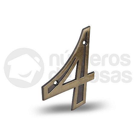 """Número """"4"""" Dourado 12,5cm"""
