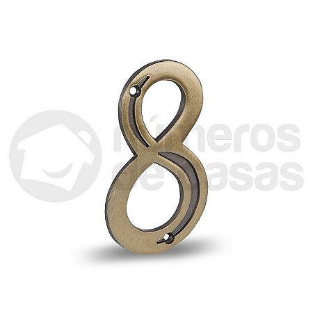"""Número """"8"""" Dourado 12,5cm"""