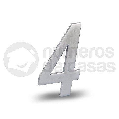 """Número """"4"""" Acetinado Liso 12,5cm"""