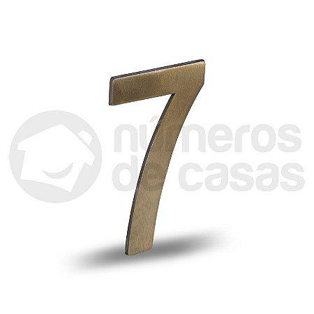 """Número """"7"""" Dourado Liso 12,5cm"""