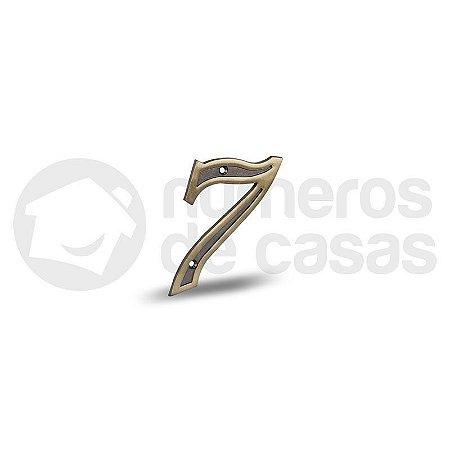 """Número """"7"""" Dourado 4,0cm"""