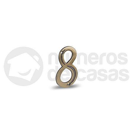 """Número """"8"""" Dourado 4,0cm"""