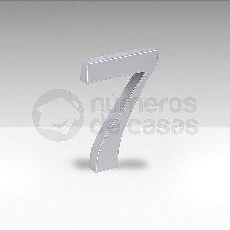 "Número ""7"" Prata Sintético"