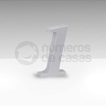 "Número ""1"" Prata Sintético"