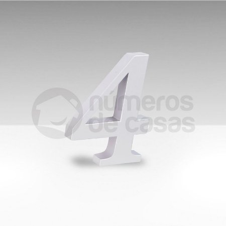"Número ""4"" Branco Sintético"