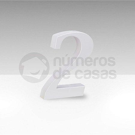 "Número ""2"" Branco Sintético"