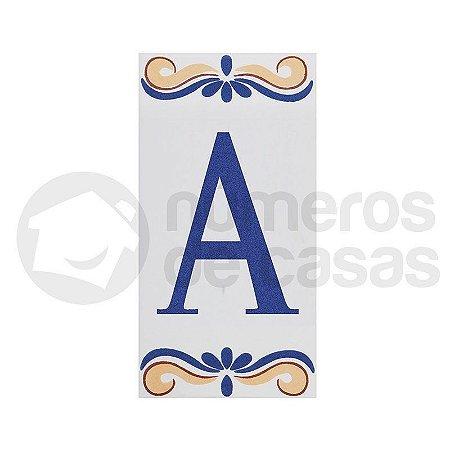 """Letra """"A"""" de Cerâmica"""