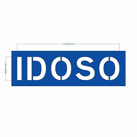 Stencil Palavra Idoso - Molde Vazado