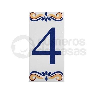 """Número """"4"""" de Cerâmica"""