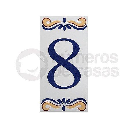 """Número """"8"""" de Cerâmica"""