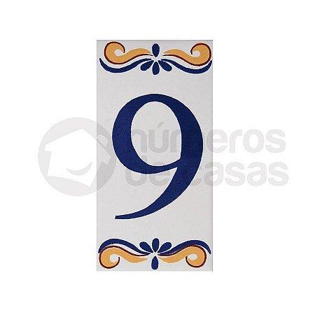 """Número """"9"""" de Cerâmica"""