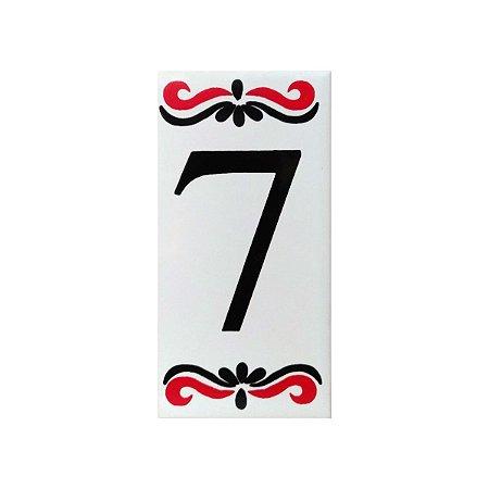 """Número """"7"""" de Cerâmica Espanha"""