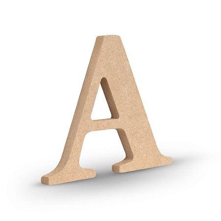 "Letra ""A"" de MDF Crú 16cm"