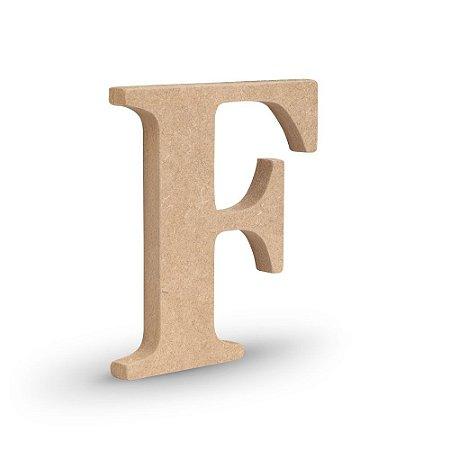 """Letra """"F"""" de MDF Crú 16cm"""