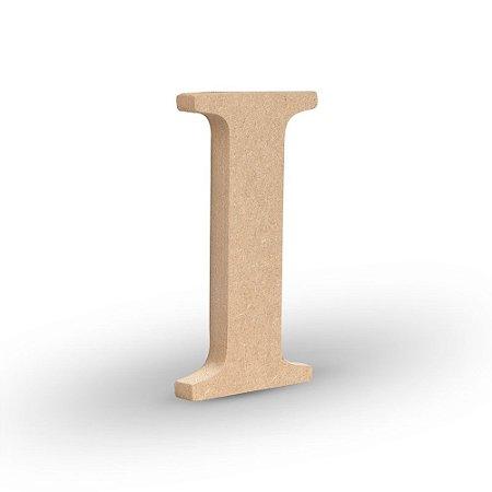 """Letra """"I"""" de MDF Crú 16cm"""