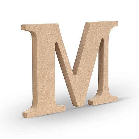 """Letra """"M"""" de MDF Crú 16cm"""