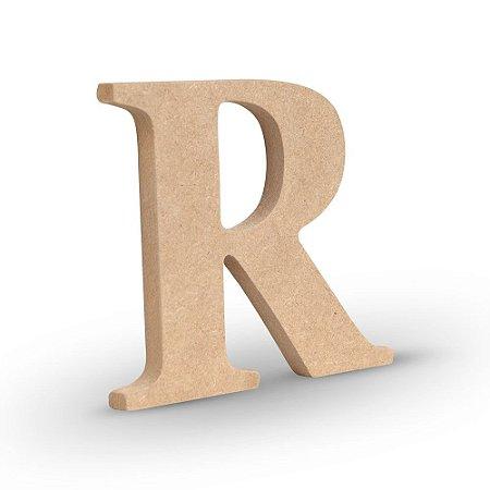 """Letra """"R"""" de MDF Crú 16cm"""