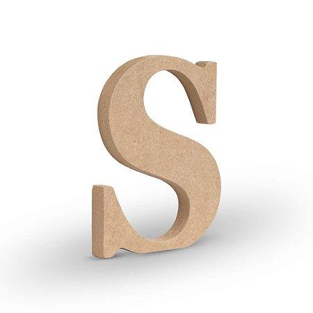 """Letra """"S"""" de MDF Crú 16cm"""