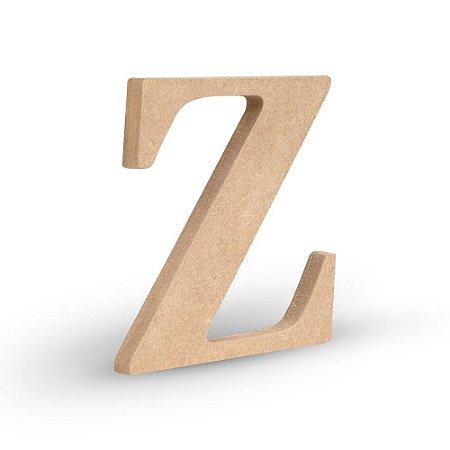 """Letra """"Z"""" de MDF Crú 16cm"""