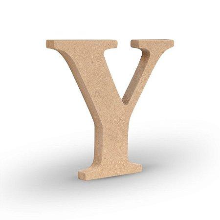 """Letra """"Y"""" de MDF Crú 16cm"""