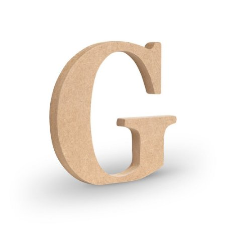 """Letra """"G"""" de MDF Crú 16cm"""