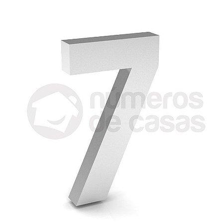 """Número """"7"""" de Inox Polido 304 18x2cm"""
