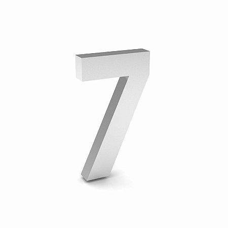 """Número """"7"""" de Inox Polido 12x2cm"""