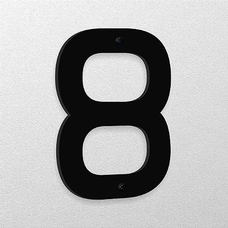 Número 8 de Aço 15cm de Altura