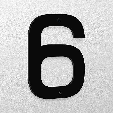 Número 6 de Aço 15cm de Altura