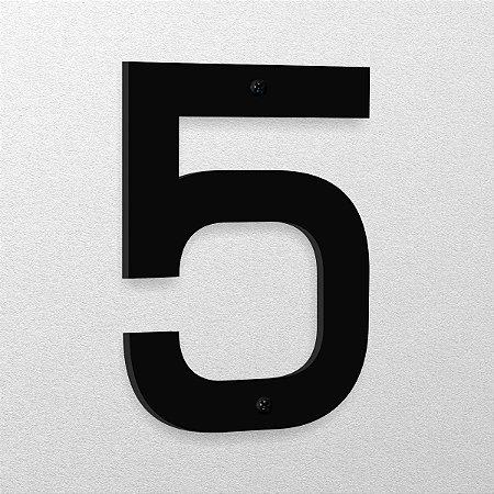 Número 5 de Aço 15cm de Altura