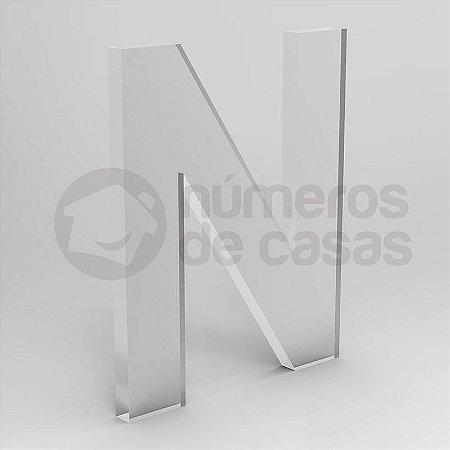 """Letra """"N"""" de Acrílico 20cm"""